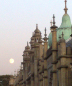 The moon over the Dome in Brighton, where we are based (not Bali)