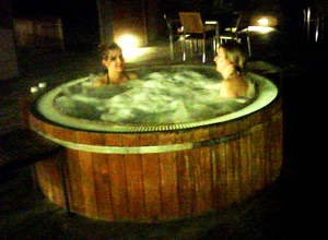 New Park Manor's hot tub