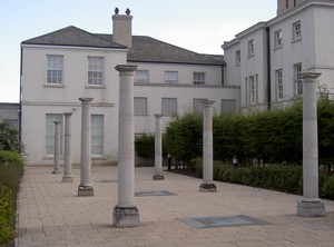Columns in the Gardens at Seaham Hall