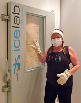 Mask and gloves on ready for the ice lab