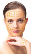 Gold thread skin rejuvenation