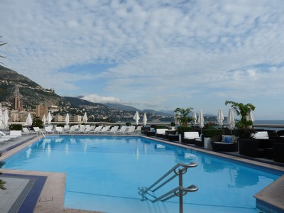Rooftop pool at The Willow Stream Spa, Monte Carlo