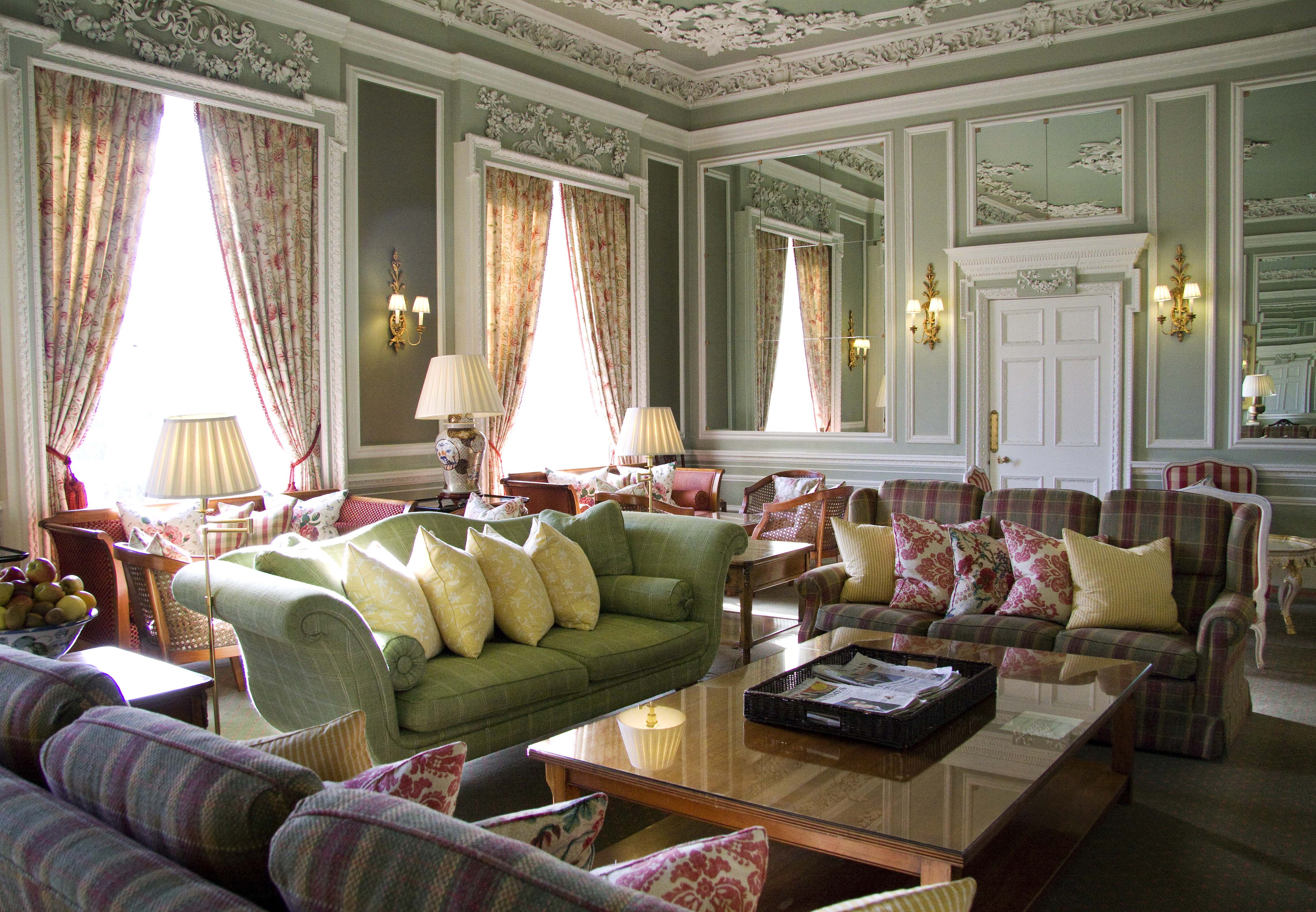 Stobo Castle Drawing Room