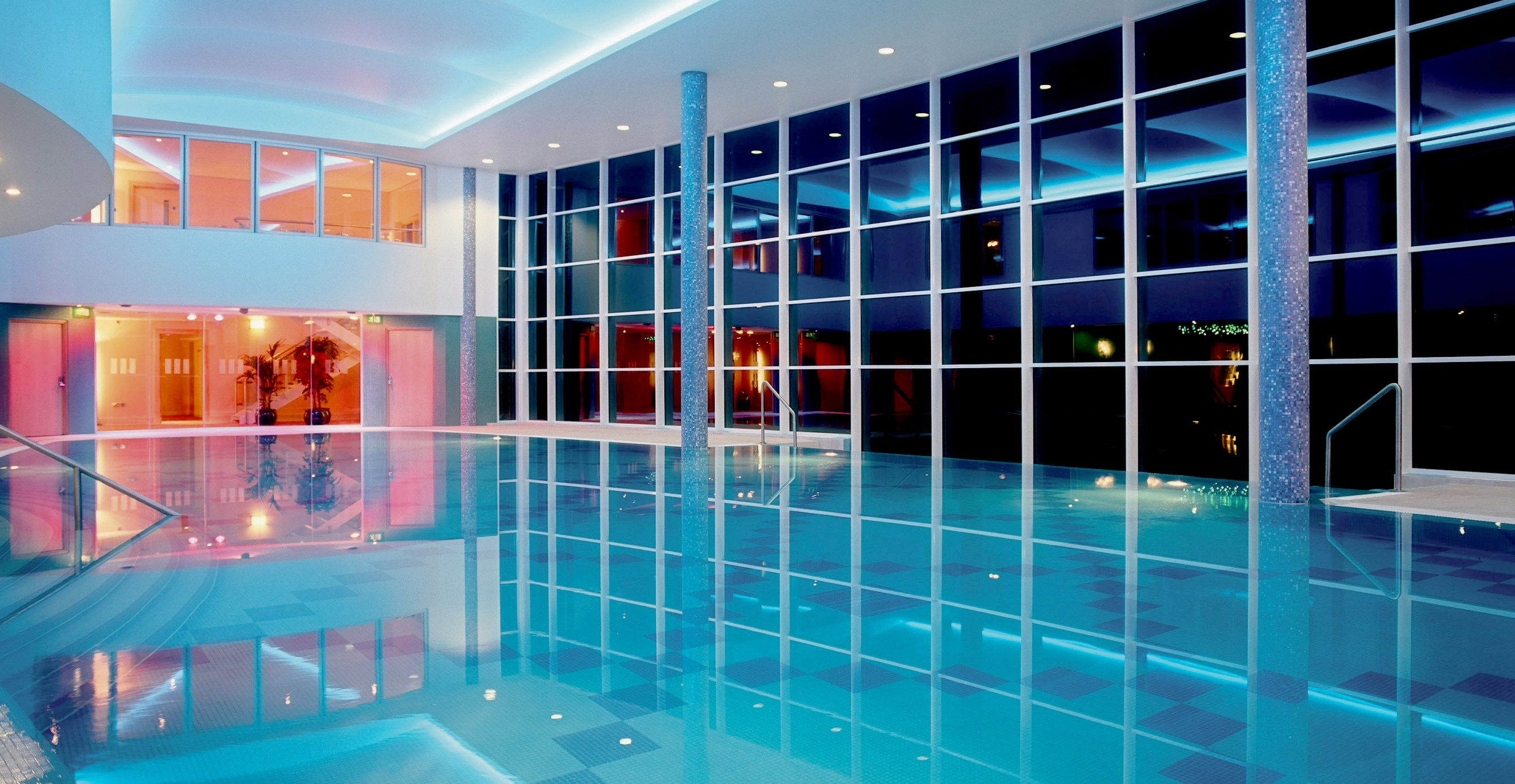 The pool at Stobo Castle Spa