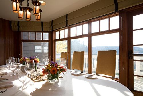 Dining at Salish Lodge