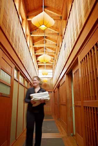 Spa corridor at Salish Lodge
