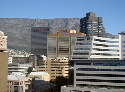 View of Table Mountain from the Westin Hotel, Cape Town