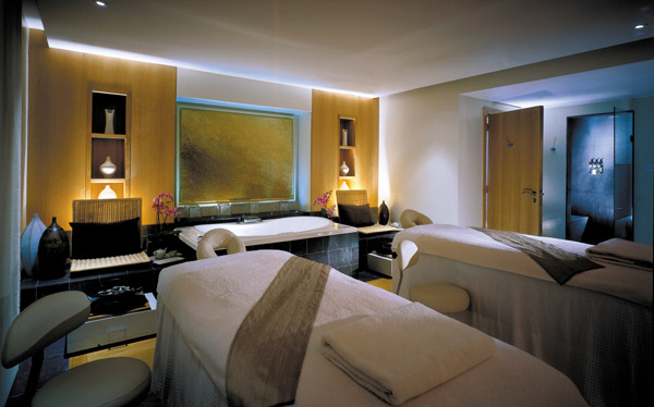 A treatment room at the spa at Four Seasons Hampshire