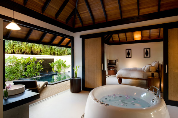 Inside a Beach Suite at The Beach House at Iruveli Maldives