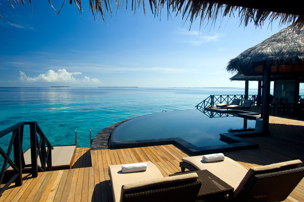 A Grand Water Pavilion at The Beach House at Iruveli Maldives