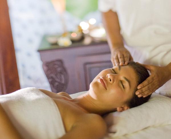 A spa treatment at the spa at The Beach House at Iruveli Maldives