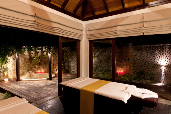 A treatment room at the spa at The Beach House