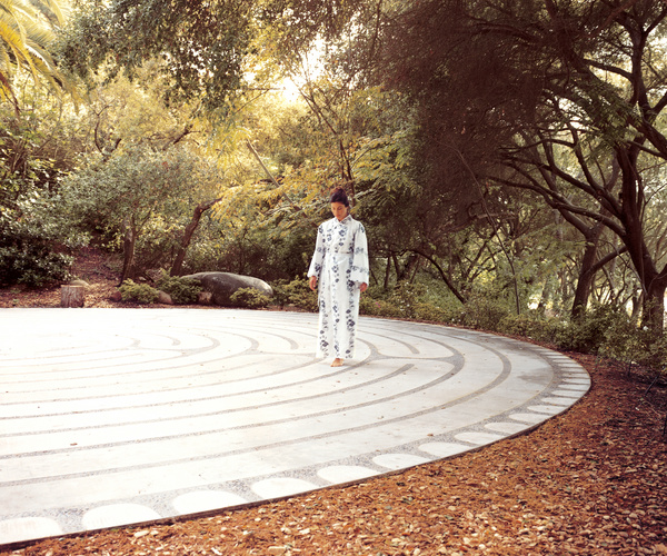 The meditative labyrinth at the Golden Door