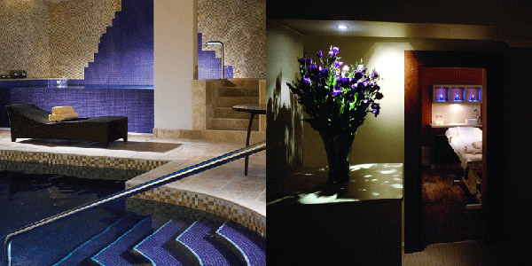 The indoor pool and a treatment room at Grayshott Spa, Surrey