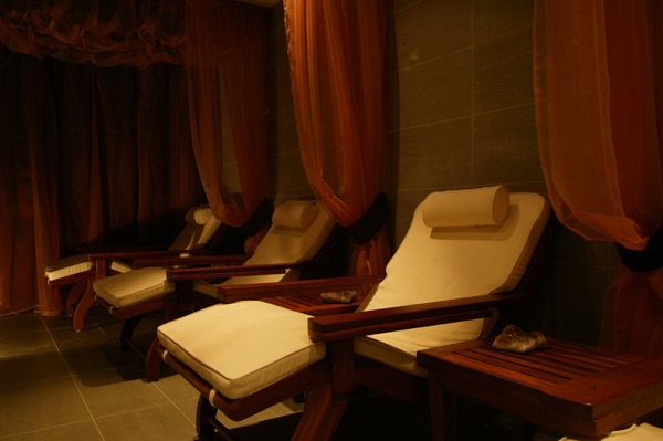 Relaxation loungers at Lansdowne Place Hotel and Spa, Hove