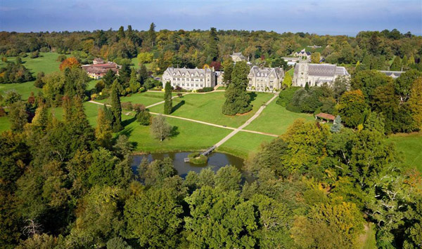 aerial view of Ashdown Park Hotel and Spa, Sussex