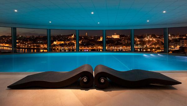 The indoor pool at the Caudalie Vinotherapie Spa