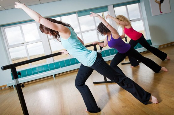 A barre training class at Ragdale Hall, Leicestershire