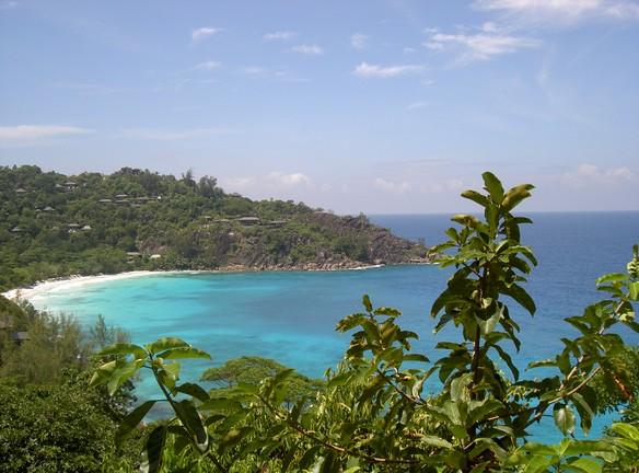 The beach at Four Seasons Resort Seychelles