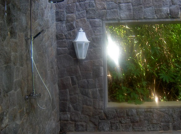 Shower room in the jungle